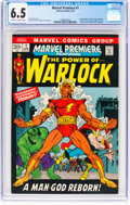 Bronze Age (1970-1979):Superhero, Marvel Premiere #1 Warlock (Marvel, 1972) CGC FN+ 6.5 Off-white to white pages....