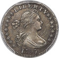 Early Half Dimes, 1797 H10C 16 Stars, V-4, LM-2, R.4 -- Surfaces Smoothed -- PCGS Genuine. AU Details....