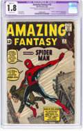 Silver Age (1956-1969):Superhero, Amazing Fantasy #15 (Marvel, 1962) CGC Apparent GD- 1.8 Slight(C-1) Off-white pages....