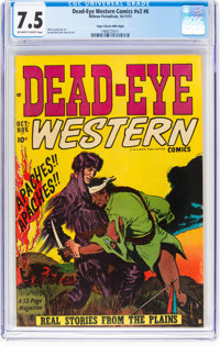 Dead-Eye Western Comics V2#6 Mile High Pedigree (Hillman Publications, 1951) CGC VF- 7.5 Off-white to white pages