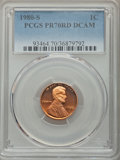 Proof Lincoln Cents, 1980-S 1C PR70 Red Deep Cameo PCGS. PCGS Population: (45). NGC Census: (0)....