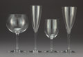 Glass, A Sixty-Six Piece Baccarat Glass Stemware Service, France, late 20th century. Marks: BACCARAT, FRANCE. 9-1/8 x 2-3/4 x 2... (Total: 66 Items)