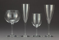 A Sixty-Six Piece Baccarat Glass Stemware Service, France, late 20th century Marks: BACCARAT, FRANCE