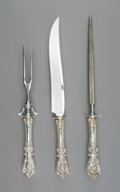 Silver Flatware, American, A Reed and Barton Francis I Pattern Silver Carving Set,Taunton, Massachusetts, designed 1907. Marks: STERLING...(Total: 3 Items)