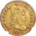 Early Eagles, 1799 $10 Small Obverse Stars, BD-7, R.3, XF45 NGC....
