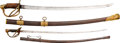 Edged Weapons:Swords, German Made Model 1860 Cavalry Officers' Sword and Child's Cavalry Sword.. ... (Total: 2 Items)