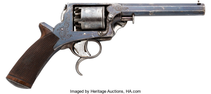 Engraved Tranter Double Action Percussion Revolver