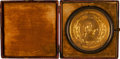 Military & Patriotic:Civil War, Gold Plated Great Seal of the Confederate States of America Personally Owned by Otho Robards Singleton, Mississippi Delegate t...