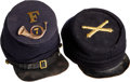 Military & Patriotic:Indian Wars, Union Forage Style Cap and Post-Civil War Kepi.. ... (Total: 2 Items)
