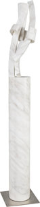 Sculpture, Guy Girard Dill (American, b. 1946). Bardiglio Column. Carved white marble. 67-1/2 inches (171.5 cm) high. ...