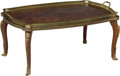 Furniture , A Louis XV-Style Gilt Bronze Mounted Mahogany, Marquetry Coffee Table with Removable Glazed Tray, early 20th century. 13-1/... (Total: 2 Items)