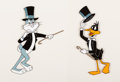 Animation Art:Production Cel, The Bugs Bunny/Road Runner Show Bugs Bunny and Daffy DuckProduction Cels Group of 2 (Warner Brothers, c. 1970s-80s)....(Total: 2 Items)