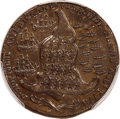 1779 Token Rhode Island Ship Token, Wreath Below, Brass, MS62 PCGS. Betts-563, W-1740, R.3....(PCGS# 587)