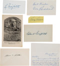 Autographs:Others, 1930's-50's Hall of Famers & Stars Signed Autographs Lot of 8....