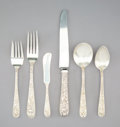 Silver & Vertu:Flatware, A Forty-Three-Piece S. Kirk & Son Co. Repoussé Silver Flatware Service, Baltimore, Maryland, designed 1924. Marks to forks: ... (Total: 43 Items)