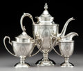 Silver Holloware, American, A Three-Piece Baltimore Silversmiths Mfg. Co. Silver CoffeeService, Baltimore, Maryland, early 20th century. Marks: (H-lion...(Total: 3 Items)