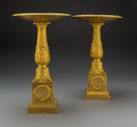 A Pair of Pierre-Philippe Thomire Empire Gilt Bronze Tazze, Paris, early 19th century Marks: THOMIRE A PARIS</