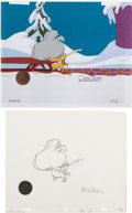 Animation Art:Limited Edition Cel, Dr. Seuss' How the Grinch Stole Christmas Max Production Cel With Matching Animation Drawing Group of 2 (MGM, 1966). ... (Total: 2 )
