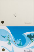 Animation Art:Production Cel, Dr. Seuss' How the Grinch Stole Christmas The Grinch and MaxProduction Cel and Animation Drawing (MGM 1966). ...