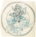 "Animation Art:Concept Art, Hank Porter ""Donald Duck"" World War II Insignia Preliminary Art (Walt Disney, c. 1940s)...."