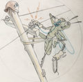 "Animation Art:Concept Art, Hank Porter ""Grasshopper"" World War II Insignia Preliminary Art(Walt Disney, c. 1940s)...."
