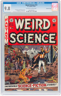 Weird Science #13 Gaines File Pedigree 12/12 (EC, 1952) CGC NM/MT 9.8 Off-white to white pages