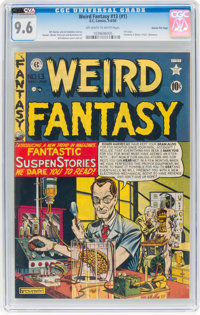 Weird Fantasy #13 (#1) Gaines File Pedigree 1/10 (EC, 1950) CGC NM+ 9.6 Off-white to white pages