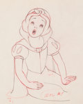 Animation Art:Production Drawing, Snow White and the Seven Dwarfs Animation Drawing (Walt Disney, 1937)....
