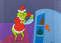 Dr. Seuss' How the Grinch Stole Christmas Production Cel and Key Master Background (Walt Disney, 1966)