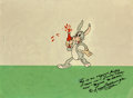 Animation Art:Production Cel, Hare-Um Scare-Um Happy Rabbit (Bugs Bunny Prototype) Production Cel (Warner Brothers, 1939)....