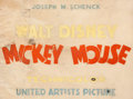 Animation Art:Poster, Mickey Mouse United Artists Title Card Mock-Up (Walt Disney,1932)....
