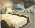 Animation Art:Painted cel background, Snow White and the Seven Dwarfs Bedroom Production Background (Walt Disney, 1937).... (Total: 2 Items)