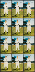 Autographs:Baseballs, Circa 1955 Enos Slaughter Color Postcards Lot of 12 from The Enos Slaughter Collection....