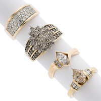 Diamonds, Colored Diamond, Laser Drilled Diamond, Gold Rings