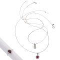 Estate Jewelry:Suites, Diamond, Ruby, Platinum, White Gold Jewelry Suite . ... (Total: 3Items)