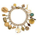 Estate Jewelry:Bracelets, Cameo, Seed Pearl, Enamel, Gold, Gold-Filled, Yellow Metal Bracelet. ...