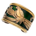 Estate Jewelry:Bracelets, Enamel, Gold, Sterling Silver Gilt Bracelet, La Nouvelle Bague . ...
