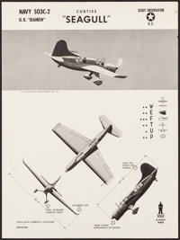 WWII Aircraft Recognition Posters (U.S. Naval Aviation Training Division, 1943). Rolled, Very Fine-. Recognition Posters...