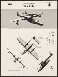 WWII Aircraft Recognition Posters (U.S. Naval Aviation Training Division, 1942-1943). Rolled, Very Fine. Recognition Pos...