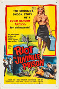"Movie Posters:Exploitation, Riot in Juvenile Prison (United Artists, 1959). Folded, Very Fine-.One Sheet (27"" X 41""). Exploitation.. ..."