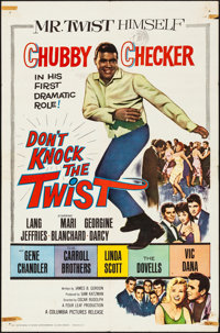 """Don't Knock the Twist (Columbia, 1962). Folded, Fine+. One Sheet (27"""" X 41""""). Rock and Roll"""