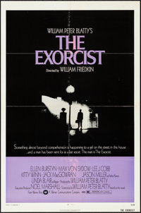 "The Exorcist (Warner Brothers, 1974). Folded, Overall: Fine/Very Fine. One Sheet (27"" X 41"") & Lobby Card..."