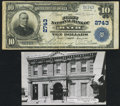 National Bank Notes:Maine, Bath, ME - $10 1902 Plain Back Fr. 624 The First NB Ch. # 2743Fine.. ... (Total: 2 items)