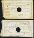 Colonial Notes:Connecticut, Connecticut Interest Certificate £1 December 10, 1789 Anderson CT-52 VF, HOC;. Connecticut Interest Certificate £5 Decembe... (Total: 2 notes)