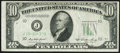 Error Notes:Obstruction Errors, Obstruction Error Fr. 2011-J $10 1950A Federal Reserve Note. VeryFine.. ...