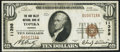 National Bank Notes:Kansas, Topeka, KS - $10 1929 Ty. 1 The Kaw Valley NB Ch. # 11398 Very Fine+.. ...