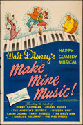"Movie Posters:Animation, Make Mine Music (RKO, 1946). Folded, Fine/Very Fine. One Sheet (27"" X 41""). Animation.. ..."