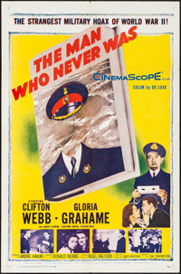 "The Man Who Never Was (20th Century Fox, 1956). Folded, Very Fine-. One Sheet (27"" X 41""). Mystery"