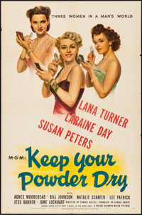 "Keep Your Powder Dry (MGM, 1945). Folded, Very Fine-. One Sheet (27"" X 41""). War"