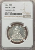 Seated Half Dollars, 1884 50C -- Obverse Cleaned -- NGC Details. Unc. NGC Census: (1/72). PCGS Population: (0/115). CDN: $925 Whsle. Bid for pro...